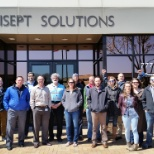 Trisept Solutions photo: Trisept team members participate in a Wellness Walk!