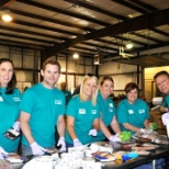 SteriCares group volunteering at the food bank
