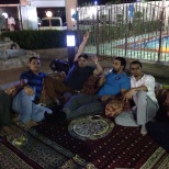 ENJOYING OUTSIDE ANNUAL PARTY