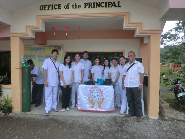 My colleagues together with ou Municipal Health Officer Dr. Freddie J. Letegio
