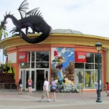 The outside of the Lego Store located at Downtown Disney