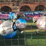 Team Bubble Football event - much harder than it looks!