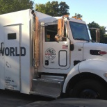 Garda World photo: 2017 Peterbilt armored truck valued around 170 grand