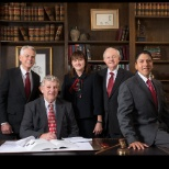 Webb, Stokes & Sparks, LLP photo: Law Partners (Left to Right), Max Parker, Sam Sparks, Mary Golder, Guy D. Choate, Carlos Rodriguez.