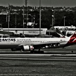 Qantas photo: The Pride of Australia.. Qantas