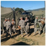 Combat operations, clinic set-up and operations