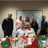 AEP Energy photo: Culture Crew philanthropy project: holiday card making
