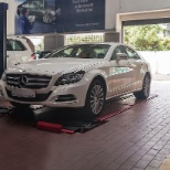 CLS 350 on the floor post