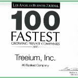 100 Fastest Growing Private Companies, Treeium #6 2015