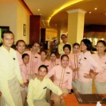 Staff in Cornice, the main restaurant of intercontinental Aqaba