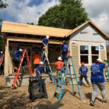 Indy CRC volunteering time to build a Habitat for Humanity home for one of our awesome employees!