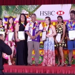 HSBC photo: Certificate receive for best performer
