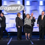 Copart, Inc photo: One of our Annual Employee Award Winners along with members of Copart's Senior Leadership Team.