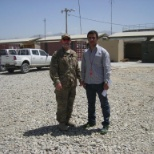 This photo has taken when I visited one of my project in Bagram Air Field.