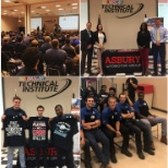 Asbury Automotive Group photo: Asbury staff hosted over 300 students for Career Day 2018 at UTI's NASCAR Technical Institute!
