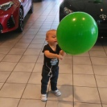 Toyota photo: Where the balloons are bigger then the kids!