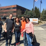 Fiserv photo: Milwaukee area associates enjoy National Walking Day