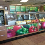 photo of Subway, This an old picture, the menu has changed.
