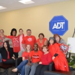 ADT Security Services photo: Employees from our Pompano office enjoyed wearing red to support the American Heart Association