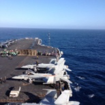Flight deck, USS Nimitz