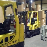 International Paper photo: PIT equipment I operated, gator clamps, 4 prong forklifts and bale clamps.