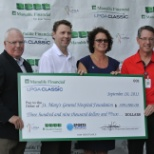 LPGA and Manulife present cheque to SMGH Foundation