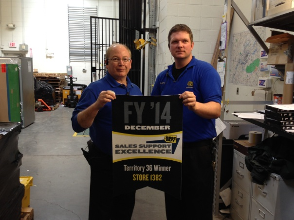 Larry and Chris with winning banner for Territory 36.