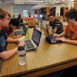 Students hard at work at Cooper Library