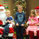 Employees and their families enjoyed a free breakfast with Santa.