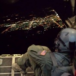U.S. Air Force photo: Night flight over New Mexico