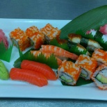 This assorted sushi was made by me for a vip function...in my workplace -Emirates Flight Catering.