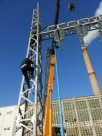Installation of an electric tower inside the electrical substation  Siemens  project .