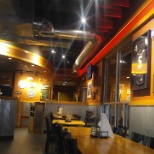 The inside of the restraunt