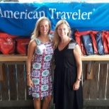 AT's Business Development Manager, Erika, and Recruiter, Kristin at the meet and greet party in SC.