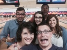 Crazy bowling team night!.... none of us were very good.
