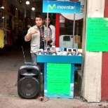 Evento de promotoria de movistar
