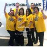 City National Bank photo: The official bank of the Golden State Warriors. CNB colleagues show their spirit!