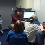 MDS Implementation Consultant doing some onsite customer training for medical office staff.