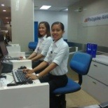 PHILIPPINE AIRLINES photo: AT THE CHECK IN COUNTER