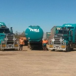 Toll photo: This was out of work hours after cleaning the prime movers :-)