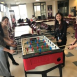 Foosball tables in our offices in Montreal!