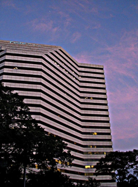 Capital One Plaza on Westheimer @ Bering at sunset. via  dog.happy.art on Flickr
