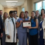 Receiving an award from the American Heart Association