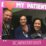 Chippenham Hospital photo: Showing that our patients rock during Patient Experience Week