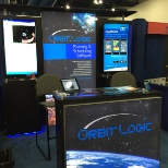 Orbit Logic photo: Orbit Logic booth at SpaceCom conference