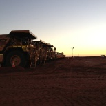 Thiess photo: Shift start