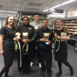 Marks and Spencer photo: Thanking my team for helping with Stocktake