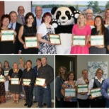 OLG photo: Employees receiving their Green Leadership Certificates