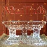 ManTech ice sculpture at our 2017 Holiday Party