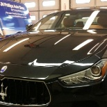 JN Phillips Auto Glass photo: A Maserati becomes the recipient of a new windshield!